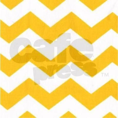 Yellow and white chevron shower curtain on cafepress com