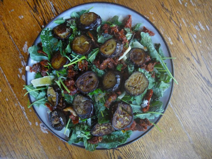 Roasted Eggplant With Sun-dried Tomatoes Recipe — Dishmaps