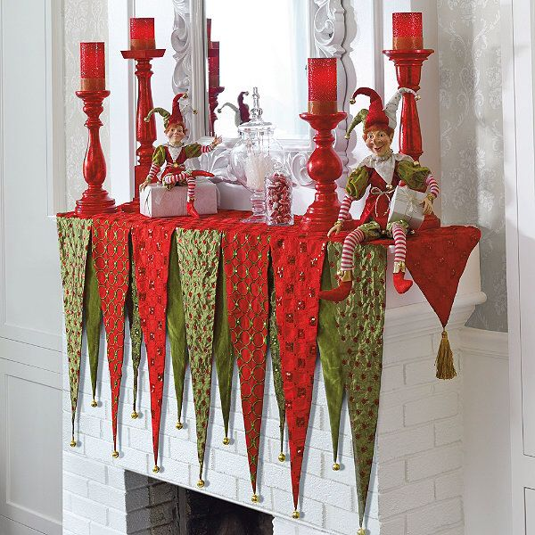 Mantel scarf that is kid color friendly. | Mantel Scarf | Pinterest