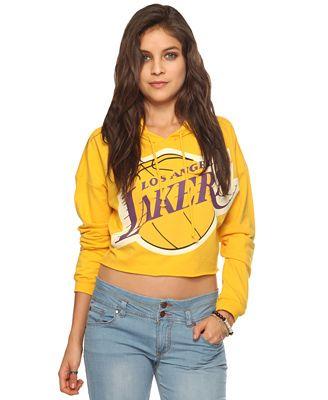 Lakers cropped hoodie