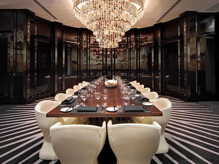 chandelier in the private dining room at black by ezard in sydney