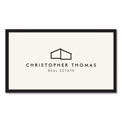 Business cards for real estate realtors agents builders for Modern realtors real estate
