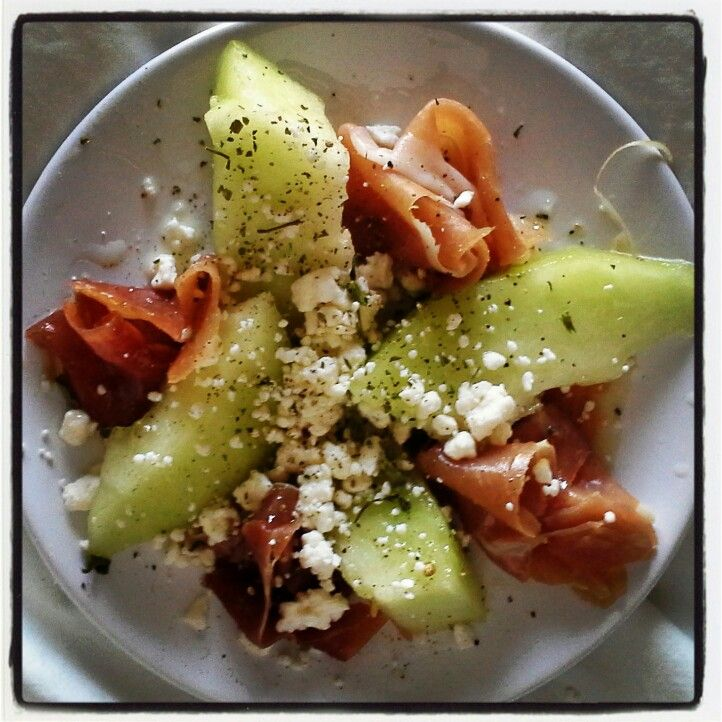 Prosciutto and melon salad | for the appetite | Pinterest