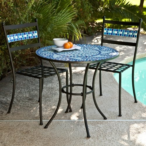 Find it at the Foundary - Marina Mosaic Bistro Table Set