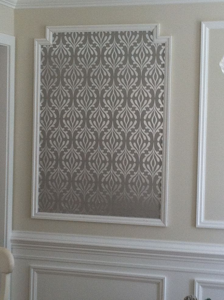 wallpaper framed with molding for the home pinterest