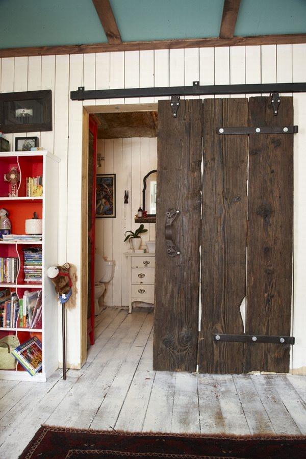 Sliding barn door for the home pinterest for Sliding front door house