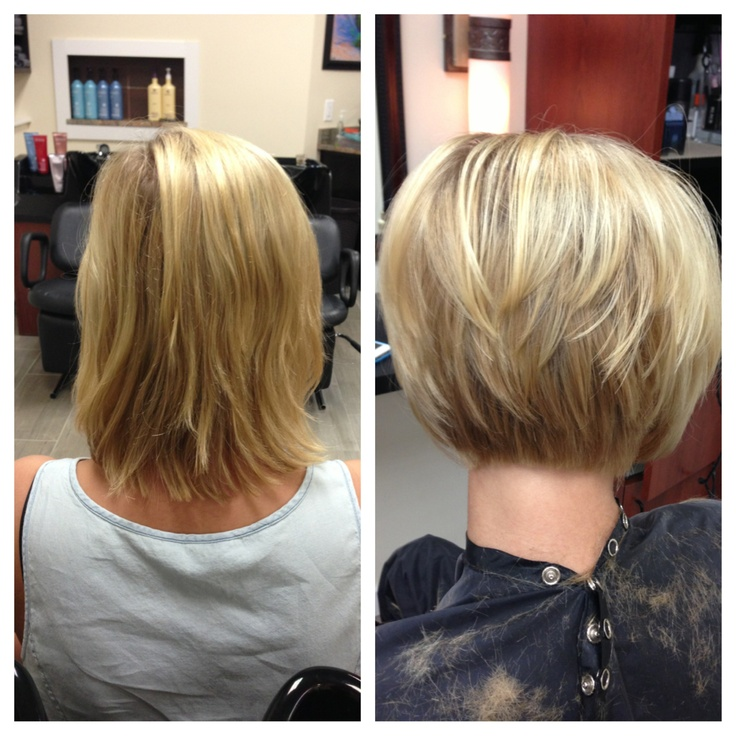 before after haircut: