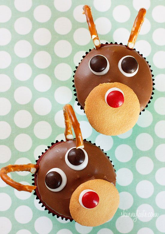Rudolph the Red Velvet Cupcake - these are adorable!