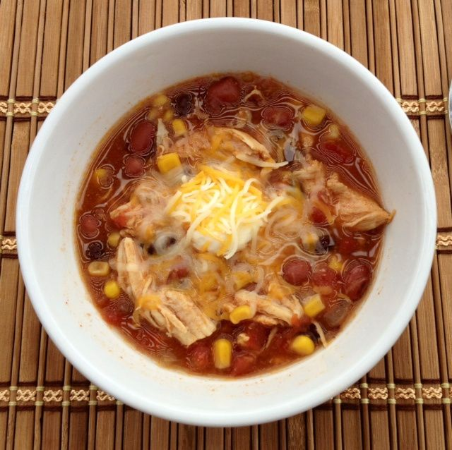 Slow Cooker Chicken Taco Soup | Food is Fun | Pinterest