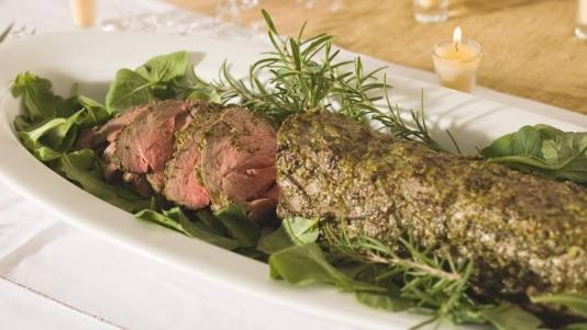 ... di parma bacon wrapped beef tenderloin herb and spice beef tenderloin