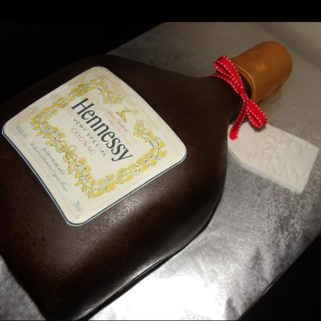 hennessy bottle cake tutorial