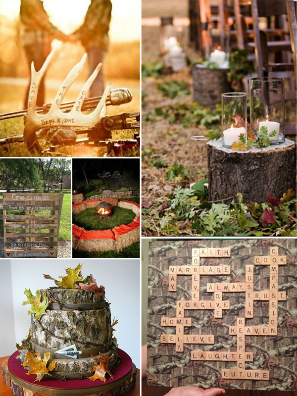 Camo Wedding Decoration Ideas