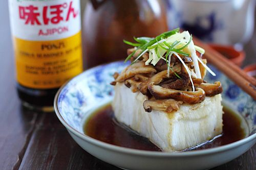 Steamed Fish with Ponzu - sea bass, sesame oil, shittake mushrooms ...