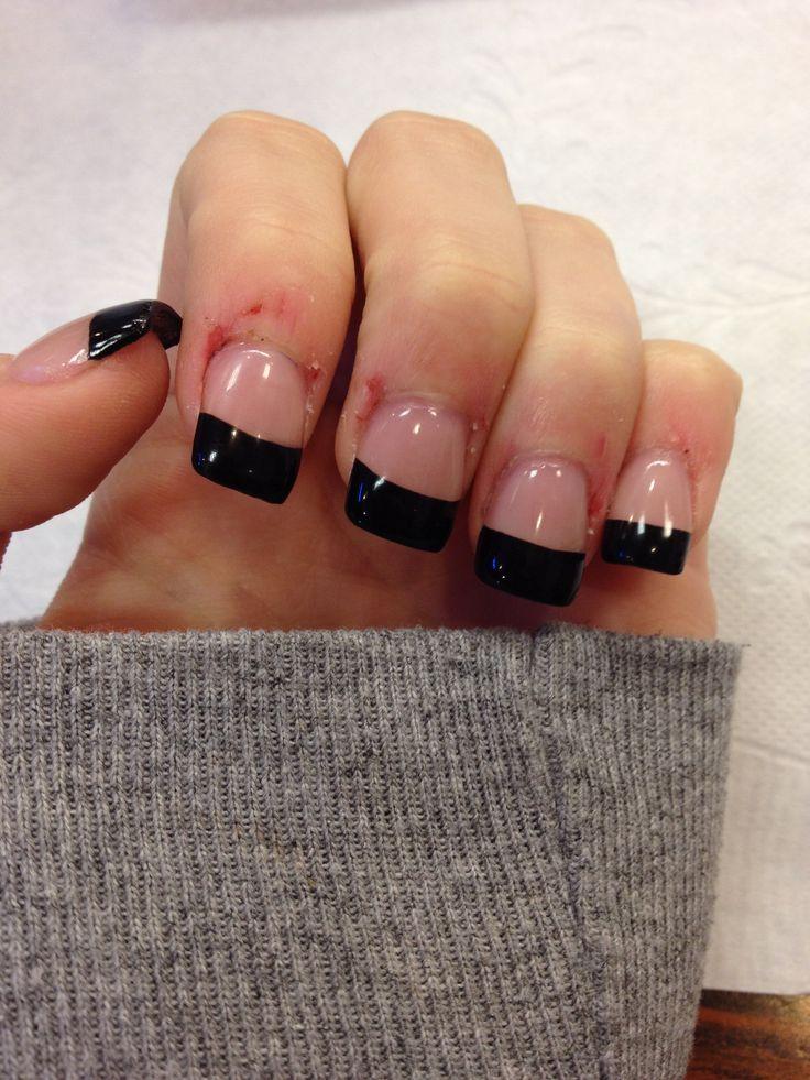 French tip acrylic nails!! | wedding! | Pinterest | Acrylics, Nail ...