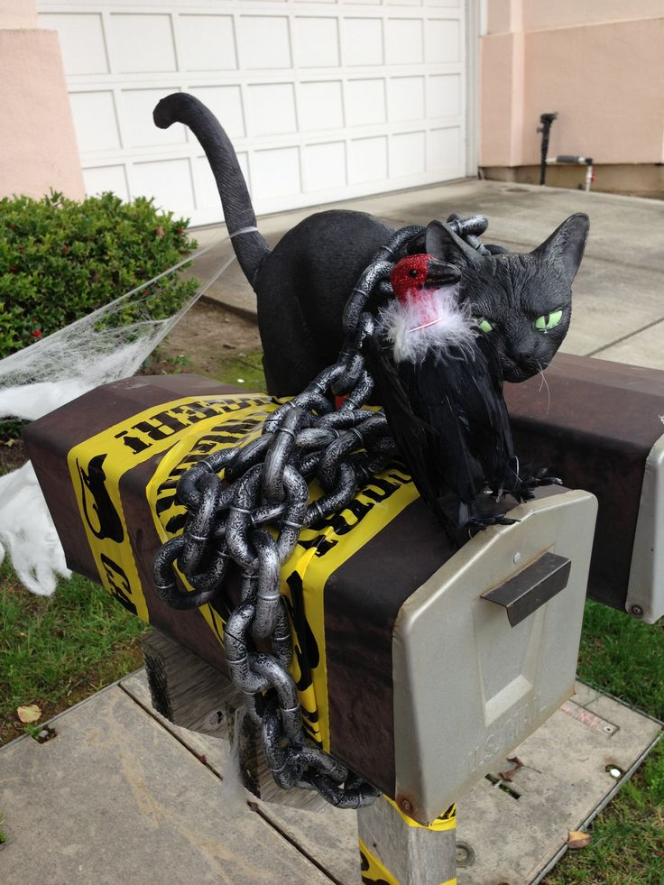 Halloween mailbox decoration  Halloween decorations  ~ 222911_Halloween Decorating Ideas For Mailboxes