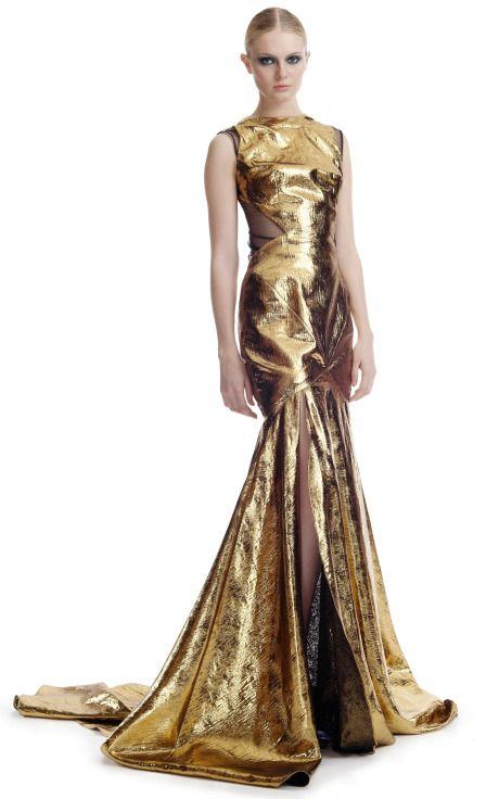 long evening dresses gold
