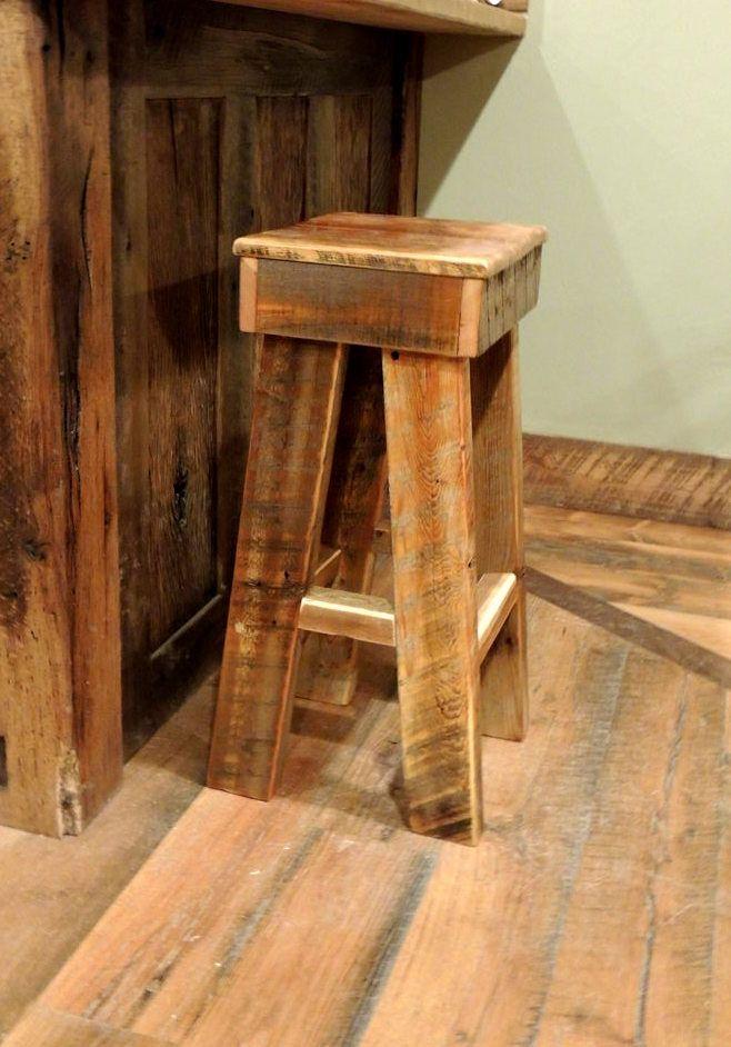 Barnwood bar stool scott jen 39 s bar pinterest for Bars made from barn wood