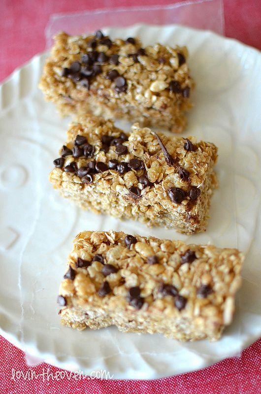 No-Bake Chocolate Chip Granola Bars | Recipe