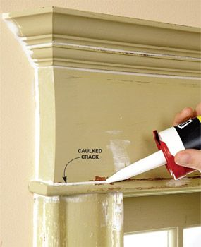Squeeze caulk into every gap and crack.