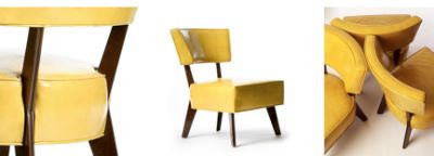 Yellow leather dining chairs a house a home pinterest