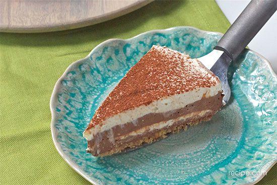 No Bake Mocha Marble Cheesecake | Desserts | Pinterest