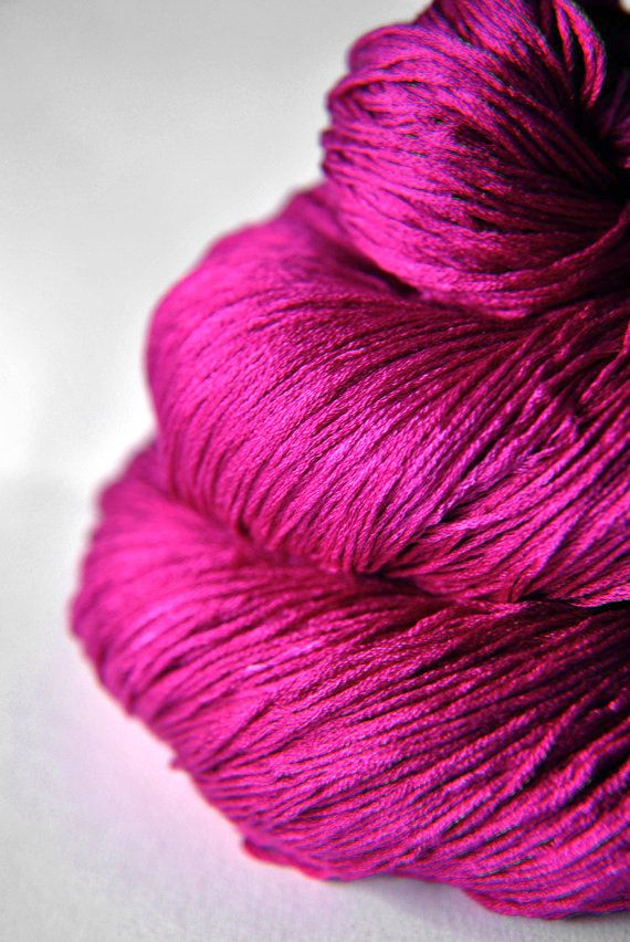 Electric light purple - Silk Yarn Lace weight via Etsy