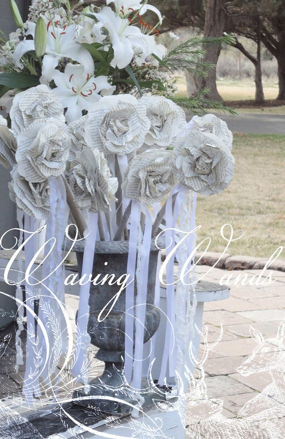 Wedding Wands Party Favor Ribbon Waving Wands by LoveEmbellished, $4 ...