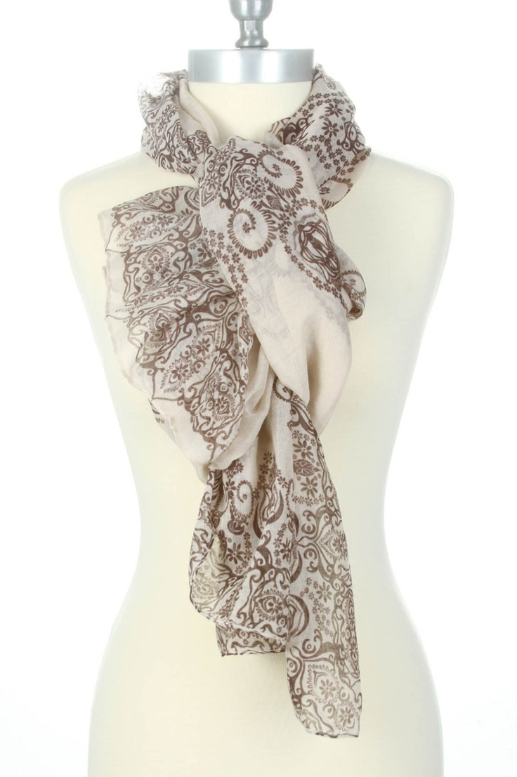 bohemian scarf outside