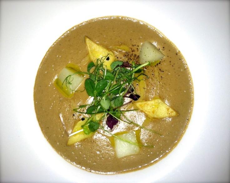 Zuppa di Funghi Porcini: Pureed porcini mushroom soup with water ...