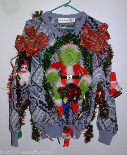 Grinch sweater holly days pinterest