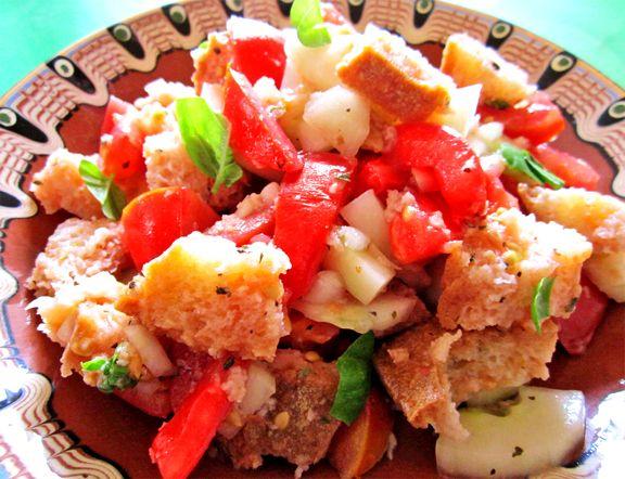 Italian bread salad panzanella salads sauces dressings pinterest