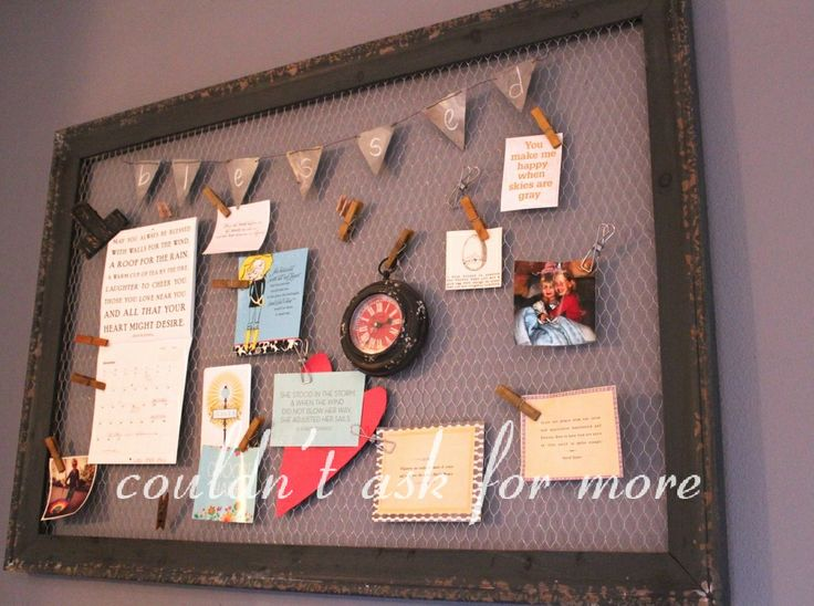 a new take on the kitchen bulletin board for the home