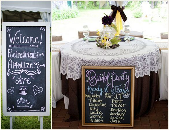 Doable DIY Chalkboard Wedding Signs