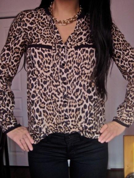 Zara Leopard Blouse 41