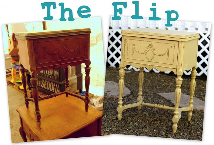 Great before & after on this sewing cabinet!