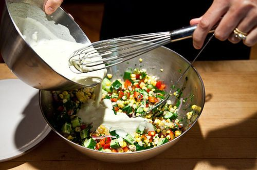 dressing salad with tahini buttermilk dressing chickpeas sumac and ...