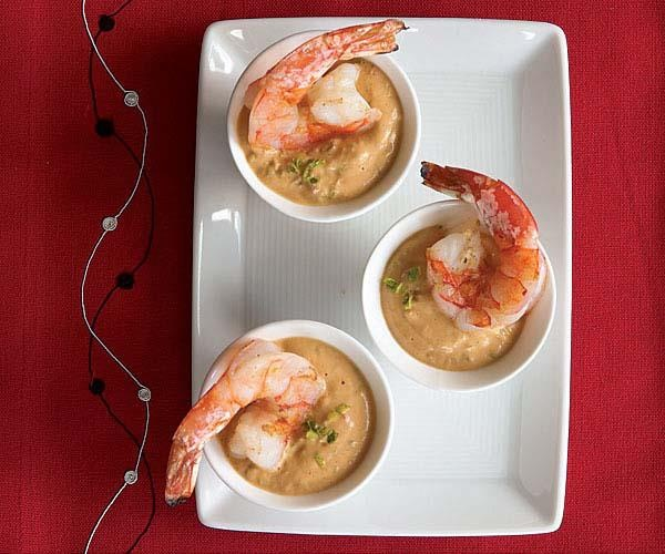 Shrimp with Spicy Asian Peanut Dipping Sauce | Recipe