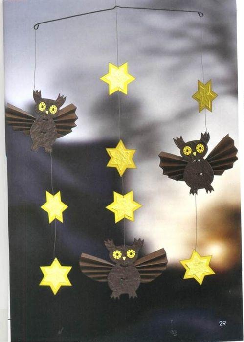 Uilen en sterren aan mobile