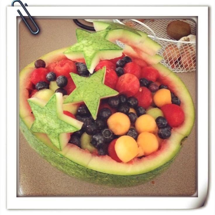 Patriotic watermelon carving fruit pinterest