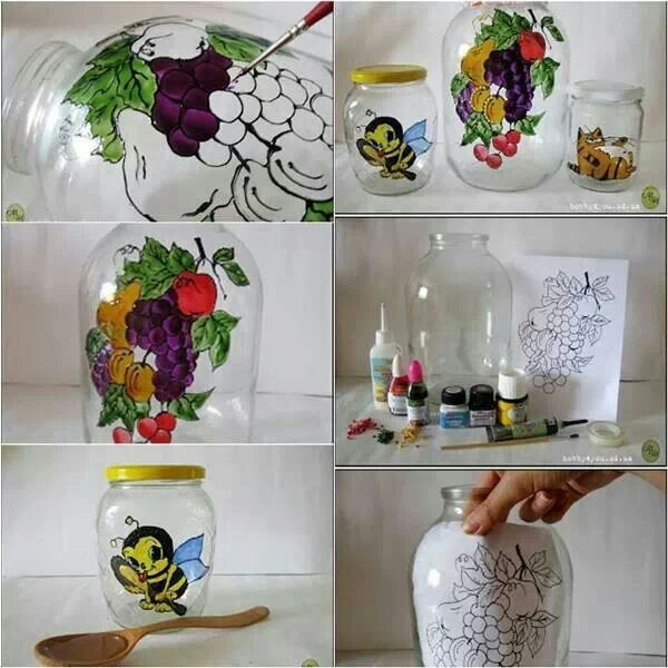 jar painting crafty ideas pinterest