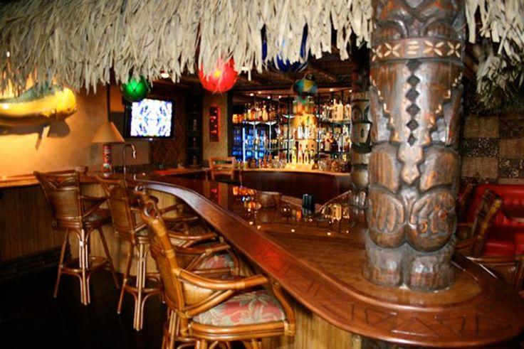 Man Cave Tiki Bar : Tiki bar themed man cave awesome caves pinterest