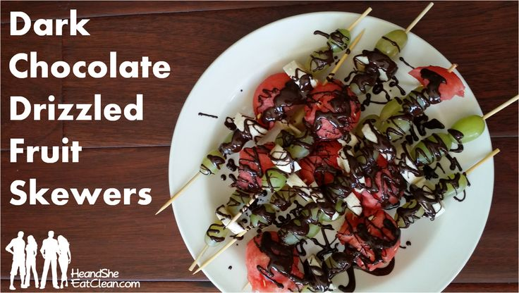 serve fruit as an appetizer, side dish, or even drizzle with chocolate ...