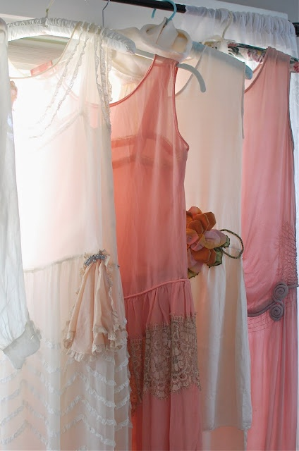 ♡ ✰ breathtaking shades of pink silk dresses 1920s restored by #Vintage Shop