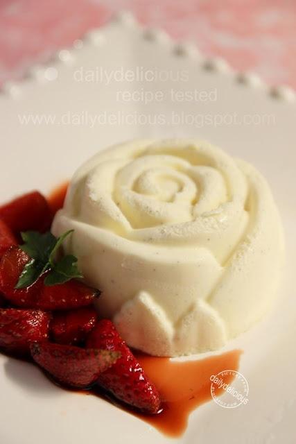 dailydelicious: White chocolate semifreddo with Strawberry Balsamic ...