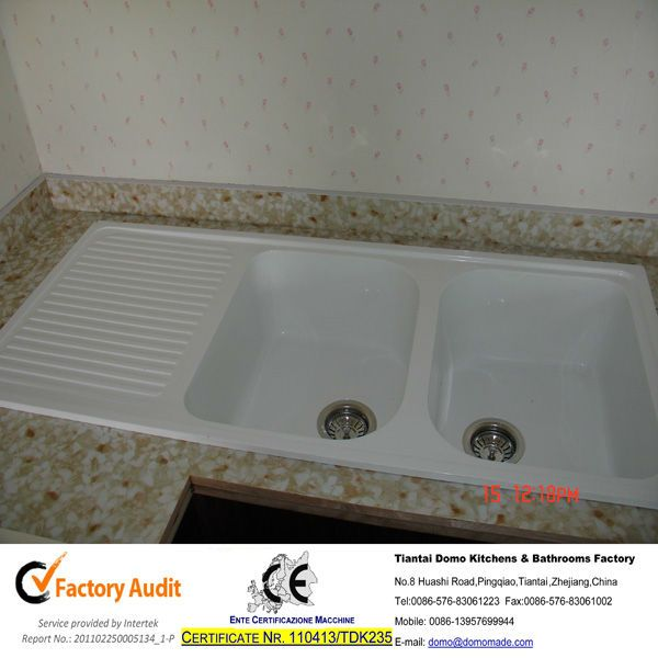 Double Bowl Kitchen Sink With Drainboard - Buy Double Bowl Kitchen Si ...