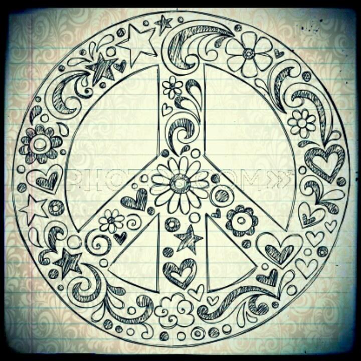 Dessin de peace and love imprimer coloriage - Dessin peace and love ...