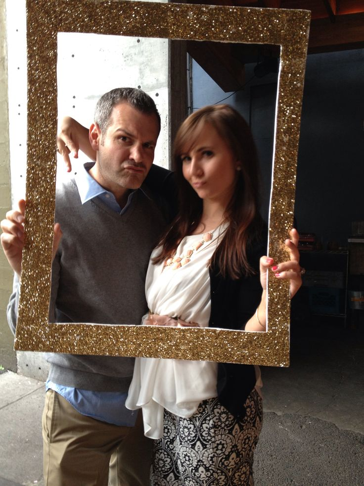 engagement party diy gold frame nunezbrown wedding pinterest