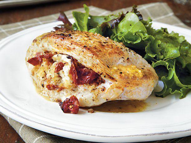 Stuffed Pork Chops with Dijon Butter Sauce | Recipe