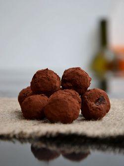 Cocoa date truffles
