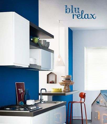 Il colore blu: relax in cucina  Interior Designer  Pinterest